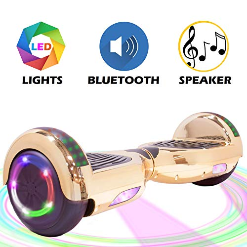 V-Fire Electric Self-Balancing Scooter with Bluetooth, Chrome Gold (UL2272 Certified)