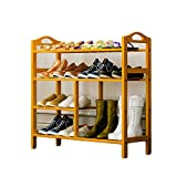 Bamboo shoe rack,100% solid wood ,Flower stand, Bookshelf,Function assemble,Entryway shelf Stand shelves Stackable Entryway bedroom-C 80x26x68cm(31x10x27inch)