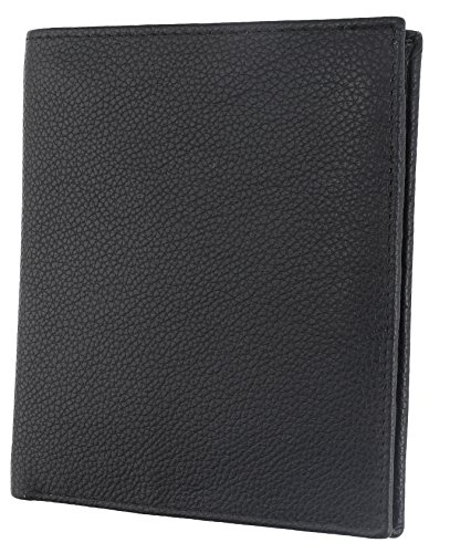 RFID Blocking Mens Leather Bi-Fold Big Hipster Wallet, 13 credit card slots,Black ()