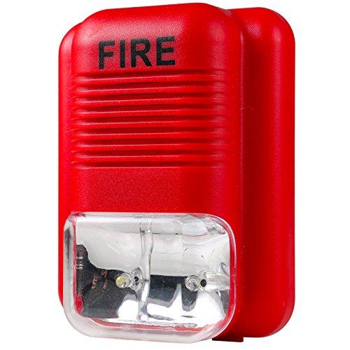 Sensor Fire Alarm Sound : Uhppote sound and light fire alarm warning strobe siren