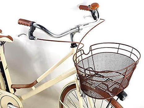Bicicletta Classica Donna Vintage con Borse e Cestino