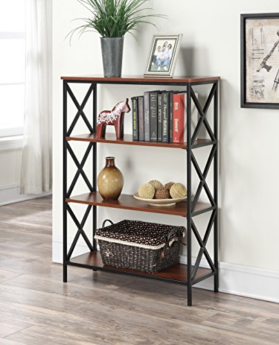 Convenience Concepts Tucson 4-Tier Bookcase, Cherry -