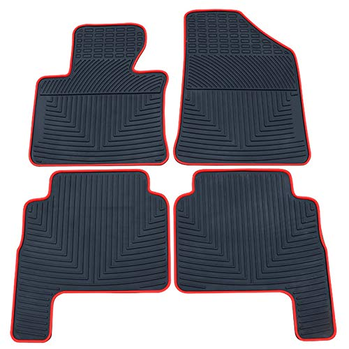 (biosp Compatible Fit Kia Sorento 2012-2017 2018 Runner Front and Rear 2 Row Seats All Weather Floor Mats Liners Set Heavy Duty Rubber Car Carpet)