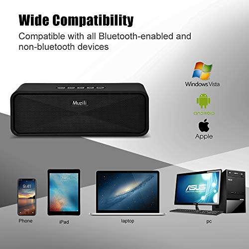 Portable Bluetooth Wireless Speakers, Dual Driver with Crystal Clear Sound/Built-in Mic/Life-Waterproof Small Bluetooth Speaker for Android iPhone (Handsfree Calling, TF Card Slot) by HolyHigh (Image #6)