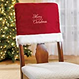 topathleticstore 4PCS Christmas Chair Cover, Red Dining Room Chair Protector Slipcovers Christmas Decoration Kitchen Party Decor 18.1 x 15.7 Inches