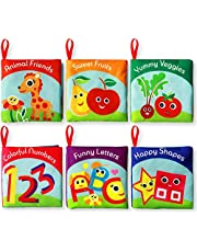 Cloth Books for Babies (Set of 6) - Premium Quality Soft Books for Toddlers. Touch and Feel Crinkle Paper. Cloth Books for Early Children's Development.