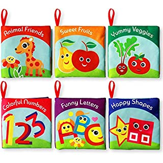 Cloth Books for Babies (Set of 6) - Premium Quality Soft Books for Toddlers. Touch and Feel Crinkle Paper. Safe and Fully Certified. Infant Books for Early Children Development