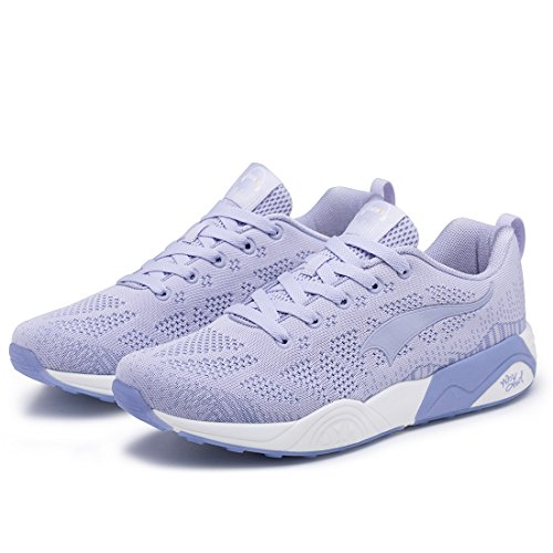 Mesh Sports Sneakers Pattern Lightweight ONEMIX Knit Fashion Women's Running Blue Shoes Men's zqHxFwa
