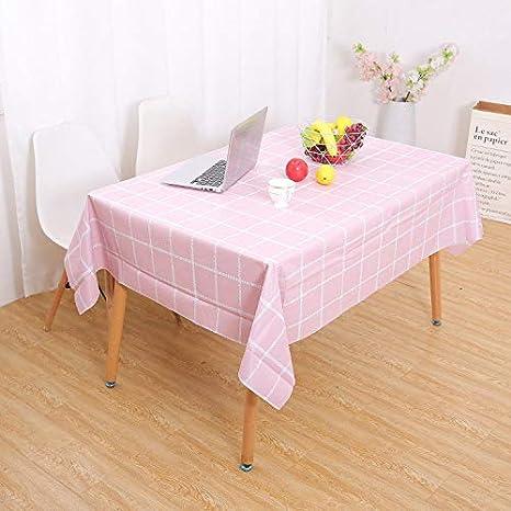 Pink FeiliandaJJ Tischdecke Wasserabweisend /Öl-Beweis Tischw/äsche Tischtuch Tisch Cover f/ür Valentinstag Hochzeit Party Outdoor Hotel Dekoration,137 x 90 cm