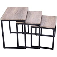 K&A Company Stacking Nesting Coffee End Tables Modern Furniture 55 lbs Capacity New 3 Pcs