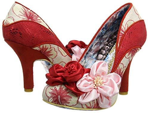 Scarpe Chiusa Donna Tacco Peach Melba red pink Choice Rosso Col Irregular Punta E tqZORw0