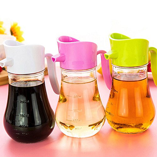 LIAN--250ml Transparent Leak-proof Oiler Spice Jar Seasoning Bottle Soy Sauce - Zelda Life Thug