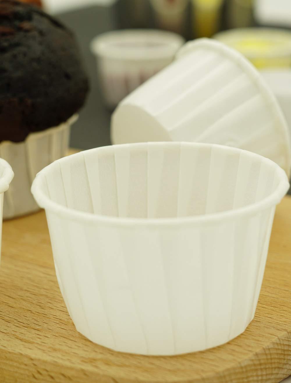Sugar and Cakes 100 Cupcake Muffin Weiss Papier Backförmchen Backform beschichtet Tasse backfähig benötigt Keine Extra Form WD