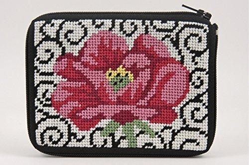 Monedero - Poppy on Scroll - Kit de punto de cruz.: Amazon ...