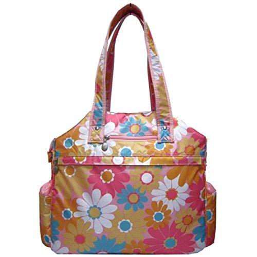 JetPac (Life Is Tennis) Women's Tennis Tote Bag – Orange/Pink Daisy Grace