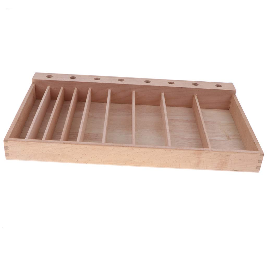 F Fityle Holz Aufbewahrungsbox für Kinder Schneiden Spiel