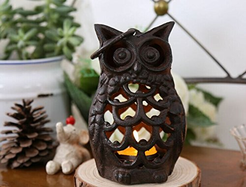 Owl Tealight Holder Lantern -