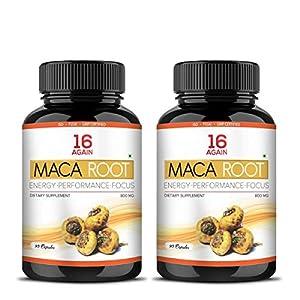16 Again Maca Root Extract Dietary Supplement 800mg 90 Veg Capsules