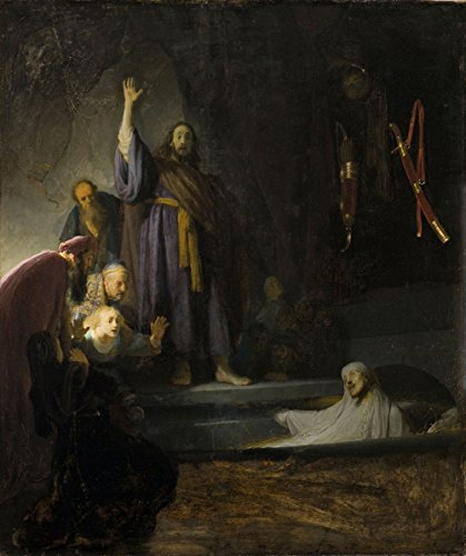 Rembrandt - The Raising of Lazarus, Canvas Art Print by YCC, Size 11x14, Canvas Print Rolled in a Tube