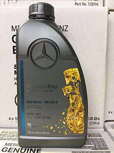 Genuine Mercedes Engine Oil (5W-40) 1 Quart, (Pack of 6) MB SPEC 229.5 (Best Oil For Small Engines)