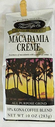Hawaiian Isles Coffee Co. Macadamia Creme 10 oz grind