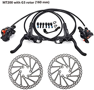 MT200 Freno bicicleta bicicleta mtb Juego de freno de disco ...