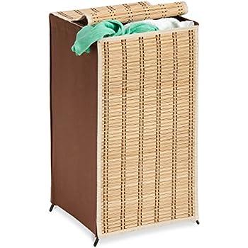 Honey-Can-Do HMP-01619 Tall Wicker Weave Hamper, Bamboo Laundry Organizer