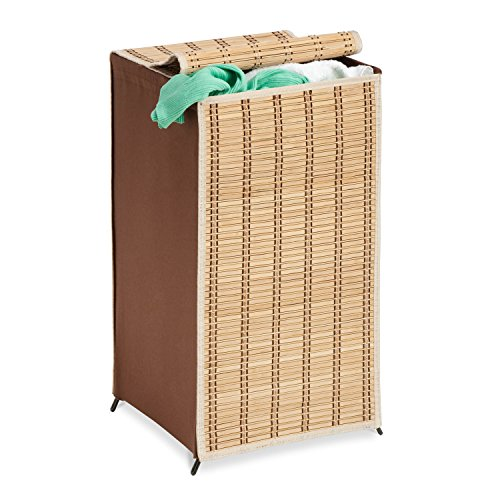 Honey-Can-Do HMP-01619 Tall Wicker Weave Hamper, Bamboo Laundry - Hamper Rattan