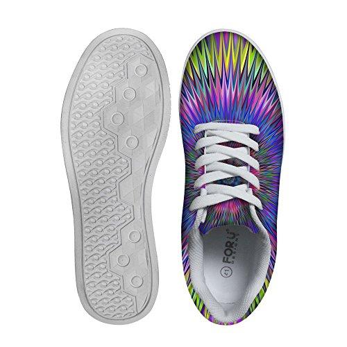 For U Design Kule Herre Graffiti Lav Topp Komfortabel Skateboard Sko Lisse-up Sneaker Multi 7