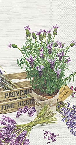 Ideal Home Range 3-Ply Paper The Flavor of Provence, 16 Count Guest Towel Napkins, Set of 2