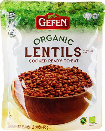 Gefen, Organic Lentils Cooked, Ready to Eat! 16.9oz (3 Pack)