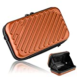 Hltd 2.5'' HDD Hard Drive Bag Travel Storage Carrying Case Bag Pouch for Electronic Computer Cell Phone iPad Accessories USB Cables Power Banks Hard Disk (Orange)