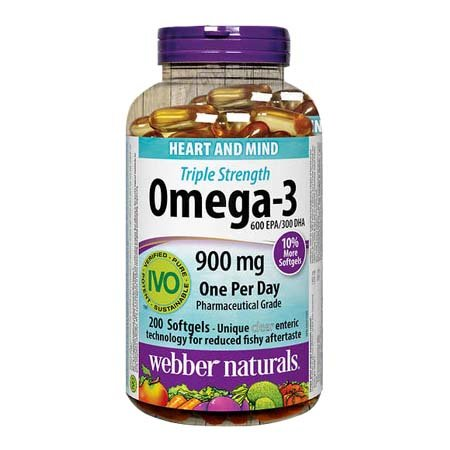 Amazon Com Webber Naturals Omega 3 Triple Strength 900mg 200