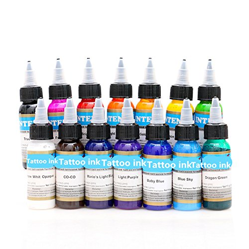 BaodeLi 14 color permanent tattoo pigment tattoo ink embroidery machine 30ml beauty (Embroidery Ink)