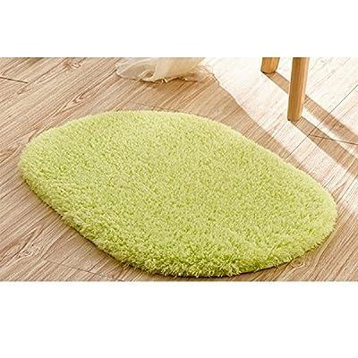 "Ladaidra Bath Mat, Non Slip Bottom Soft Comfortable Washable Cushion, 19.69"" x 11.81"", Green"