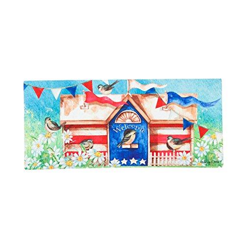Evergreen Patriotic Birdhouse Sassafrass Decorative Mat Insert, 10 x 22 (Evergreen Enterprises Birdhouse)