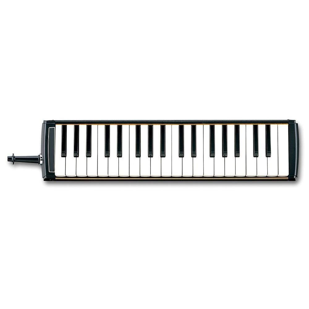 Melodica Musical Instrument Professional Adults 37 Keys Portable Pianica Melodica With Carrying Bag Musical Instrument Gift Toys For Music Lovers Beginners Kids Mouthpieces Tube Sets Black for Music L by Shirleyle-MU (Image #2)