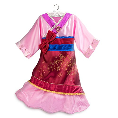 Disney Store Princess Mulan Girl Halloween Costume Dress Size -