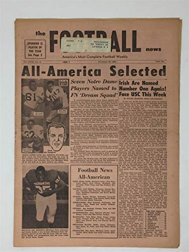 - 1966 The Football News 11/26/66 Bubba Smith Notre Dame