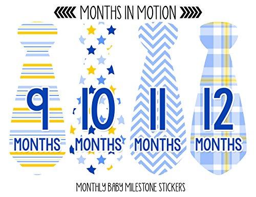 Months in Motion 745 Monthly Baby Stickers Necktie Tie Baby Boy Months 1-12 by Months In Motion (Image #3)