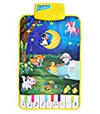 Durable and Foldable Piano Mat, 8 piano Funactional Keys and 8 Selectable Animal Sounds, Play and Record, For Kids 3+, Dance and Learn