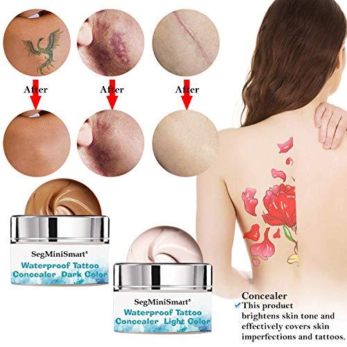 Scar Concealer, Body Concealer, Tattoo Concealer, Birthmark Concealer, Concealer Cream, Makeup Concealer, Pro Concealer, Waterproof Concealer To Cover Tattoo/Scar/Birthmarks/Vitiligo, 30g+30g
