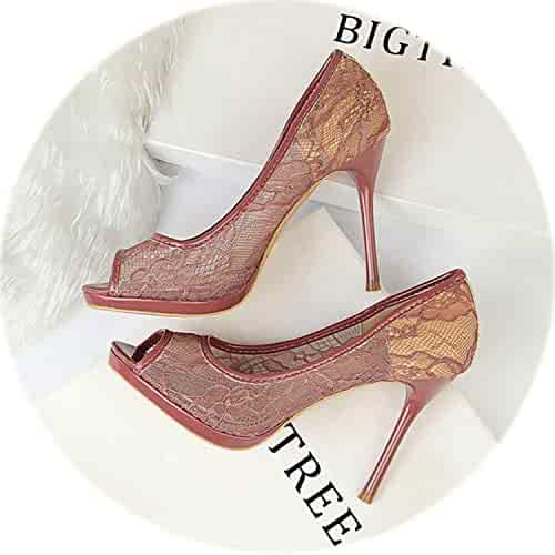625100ad7ce HANBINGPO Pumps Women Shoes Sexy High Heels Women Stiletto Women Pumps  Platform Heels Peep Toe Ladies