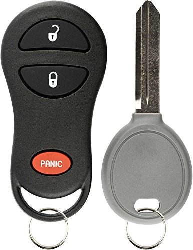 KeylessOption Keyless Entry Remote Fob Uncut Ignition Car Key Replacement for Jeep 56036859, GQ43VT9T