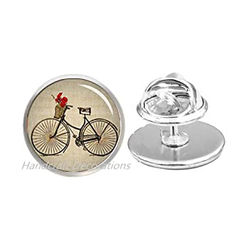 HandcraftDecorations Bicycle Pin Brooch JewelryGifts For CyclistsBirthday Gift Her