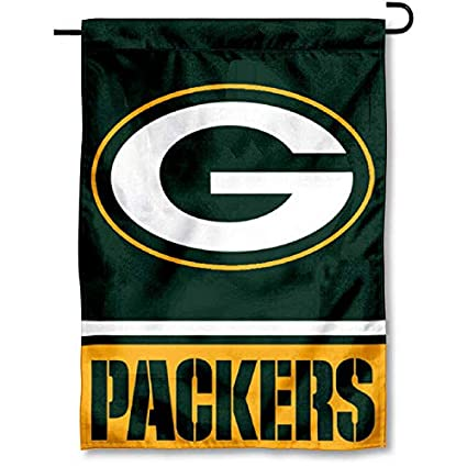 Image Unavailable. Image not available for. Color  WinCraft Green Bay  Packers Double Sided Garden Flag b64b54992