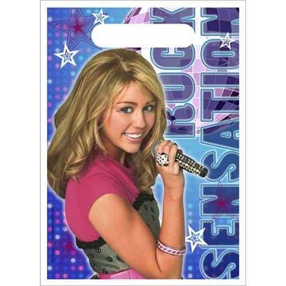 Hannah Montana Loot Bags 8ct (Party Montana Hannah Favors Stickers)