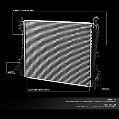 2789 Factory Style Aluminum Radiator Replacement for 05-14 Ford Mustang 3.7L/3.9L/4.0L/4.6L/5.0L AT: Automotive