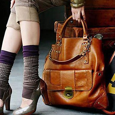 Price comparison product image BST Trendy Woman's High Quality Brown Handbag With Brass Button by Evalent