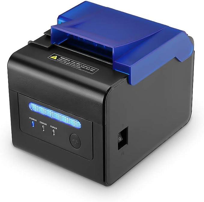 Cubierta Protectora] Impresora Térmica 300 mm/Sec 80mm / Receipt Ticket Impresión/Interfaz USB/Serial/LAN Impresora de Cocina Profesional con Tapa: Amazon.es: Electrónica